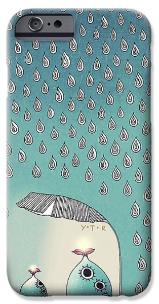 Zany iPhone Cases - April Shower iPhone Case by Yoyo Zhao