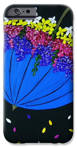 Rainy Day iPhone Cases - April Showers... iPhone Case by Celeste Manning