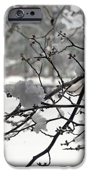April Snow iPhone Case by Kay Novy