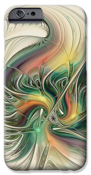 Recently Sold -  - Abstract Digital Art iPhone Cases - Aprils Temper iPhone Case by Kim Redd