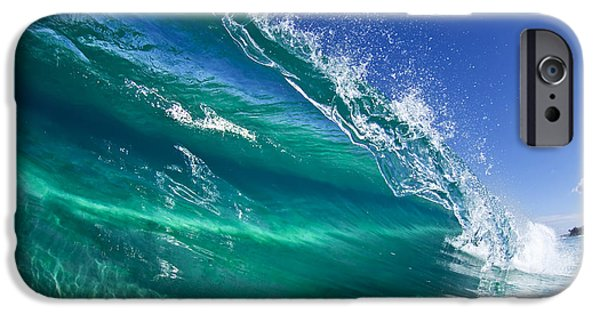 Surrealism Photographs iPhone Cases - Aqua Blade iPhone Case by Sean Davey