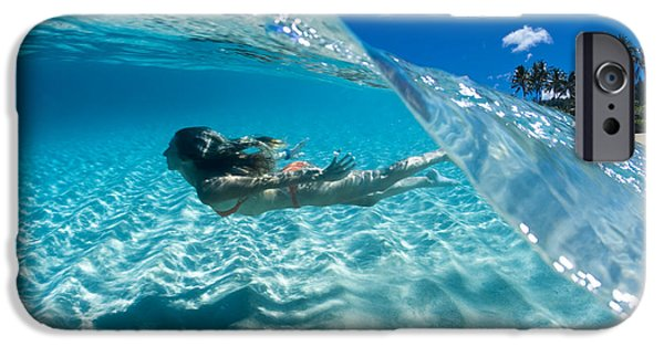 Freedom iPhone Cases - Aqua Dive iPhone Case by Sean Davey