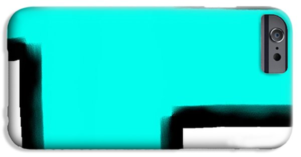 Etc. Digital Art iPhone Cases - Aqua Dog iPhone Case by James Eye