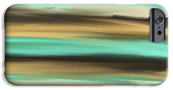 Abstract Seascape iPhone Cases - Aqua Dreams iPhone Case by Lourry Legarde