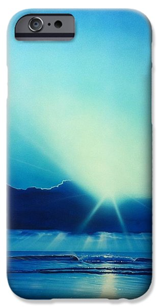 Sunset Prints iPhone Cases - Aqua Earth iPhone Case by Christian Chapman Art