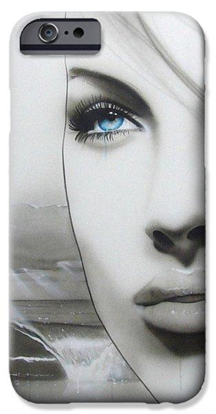 'Aqua Marine' iPhone Case by Christian Chapman Art