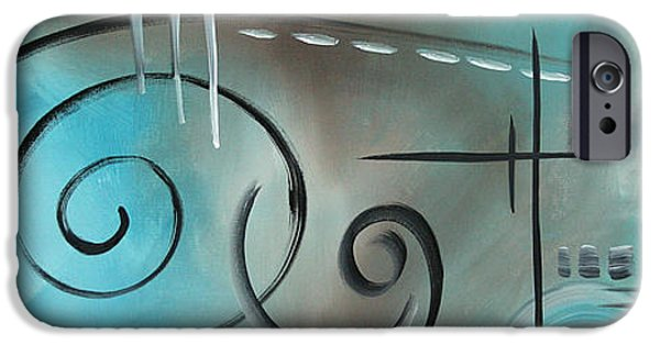Rust iPhone Cases - Aqua Mist by MADART iPhone Case by Megan Duncanson