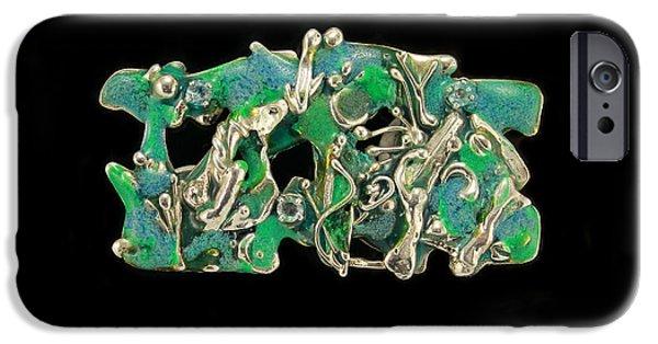 Ocean Jewelry iPhone Cases - Aqua Reef iPhone Case by Laura Wilson