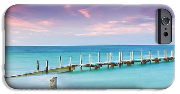 Panoramic Ocean iPhone Cases - Aqua Waters iPhone Case by Az Jackson