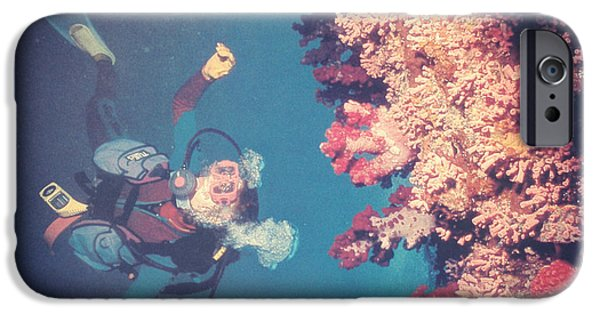 Free-diver iPhone Cases - Aqualung iPhone Case by Taylan Soyturk