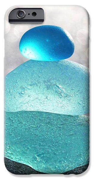 Aquamarine Ice iPhone Case by Barbara McMahon
