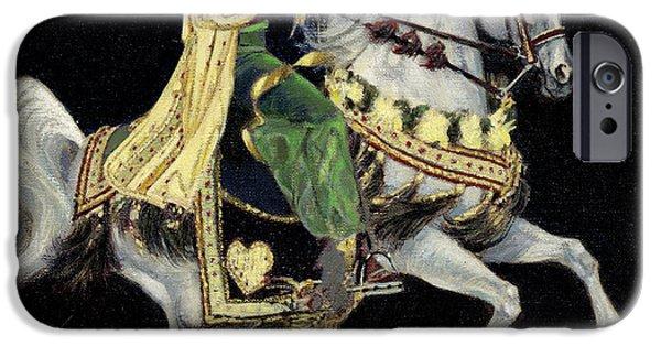 Arabian iPhone Cases - Arabian Costume Horse iPhone Case by Don  Langeneckert