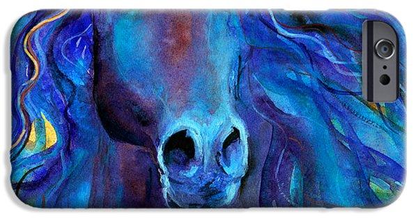 Arabian iPhone Cases - Arabian horse #3  iPhone Case by Svetlana Novikova