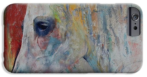 Michael Paintings iPhone Cases - Arabian iPhone Case by Michael Creese