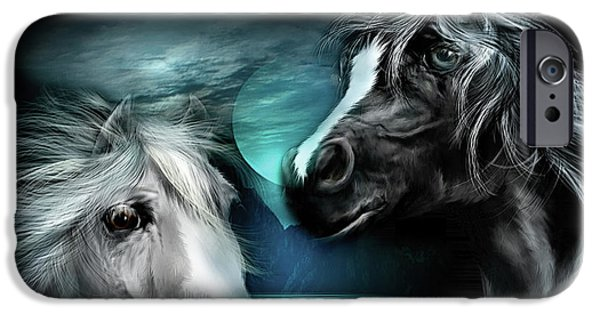 The Horse iPhone Cases - Arabian Moon iPhone Case by Carol Cavalaris