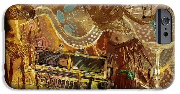Corporate Art iPhone Cases - Arabian Symbolism iPhone Case by Corporate Art Task Force