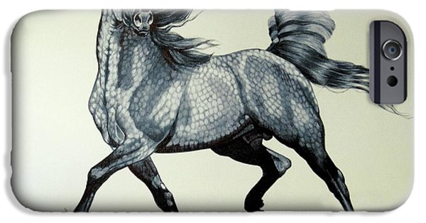 Drawing Of A Horse iPhone Cases - Arabians are Beautiful iPhone Case by Cheryl Poland