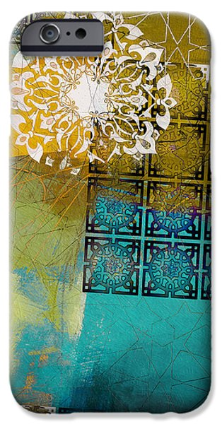 Motif One iPhone Cases - Arabic Motif 6C iPhone Case by Corporate Art Task Force