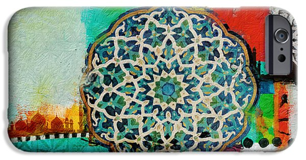 Motif One iPhone Cases - Arabic Motif 7B iPhone Case by Corporate Art Task Force