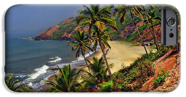 Sea iPhone Cases - Arambol Beach India iPhone Case by Anthony Dezenzio