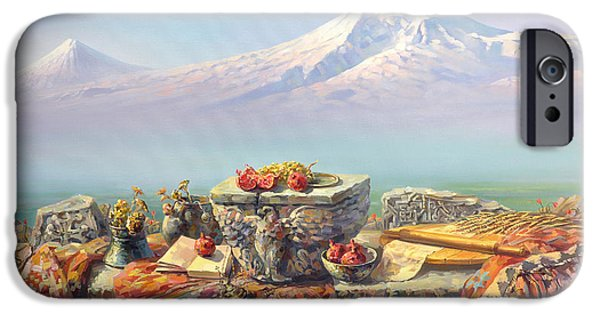 Recently Sold -  - Birds iPhone Cases - Ararat with a lavash iPhone Case by Meruzhan Khachatryan