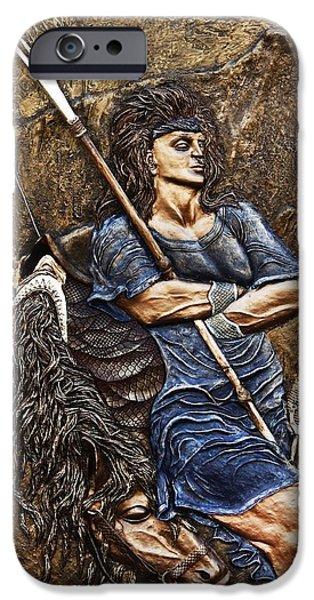 Relief Sculpture Reliefs iPhone Cases - Arash the Archer iPhone Case by Ashkan Fallahi