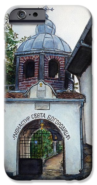 Orthodox Paintings iPhone Cases - Arbanasi Monastery St. Mother of God Bulgaria iPhone Case by Henrieta Maneva