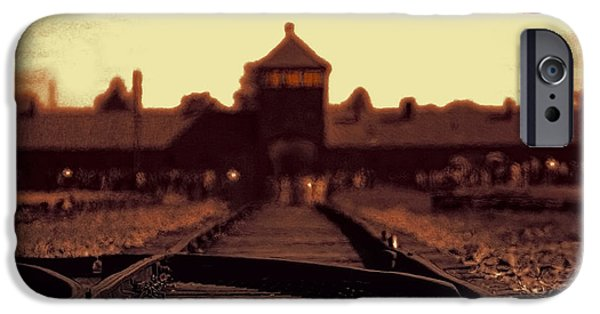 Genocides iPhone Cases - Arbeit Macht Frei iPhone Case by Daniel Hagerman