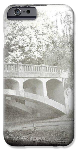 Arboretum Bridge iPhone Case by Justine Connolly