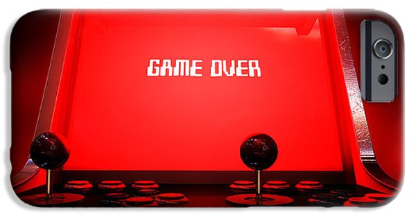 Operating iPhone Cases - Arcade Game Game Over iPhone Case by Allan Swart