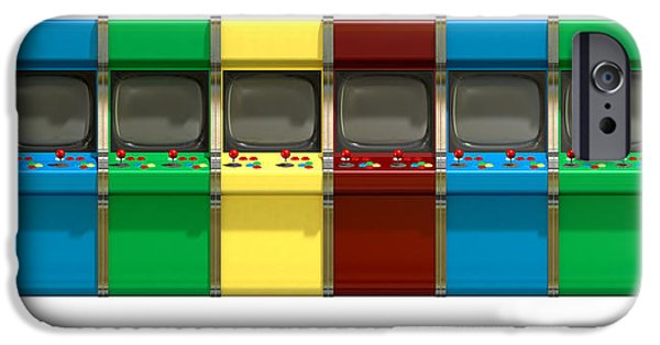 Electronic iPhone Cases - Arcade Game Line iPhone Case by Allan Swart