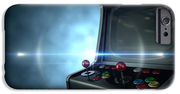 Operating iPhone Cases - Arcade Machine Dramatic View iPhone Case by Allan Swart
