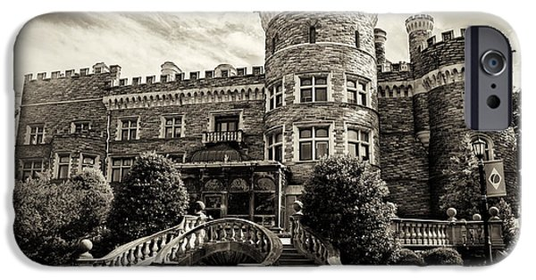 Beaver Digital iPhone Cases - Arcadia College - Grey Towers Castle in Sepia iPhone Case by Bill Cannon
