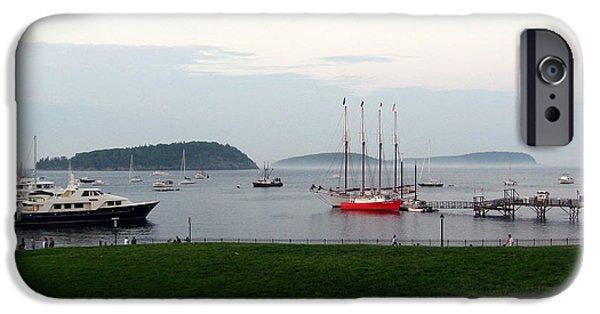 Sailboat Ocean iPhone Cases - Arcadia National Park iPhone Case by Ulli Karner