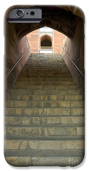 Nation iPhone Cases - Arch And Stairs, India iPhone Case by John Shaw