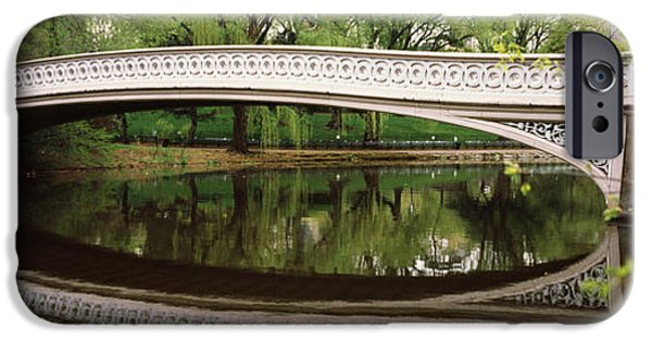 Connection iPhone Cases - Arch Bridge Across A Lake, Central iPhone Case by Panoramic Images