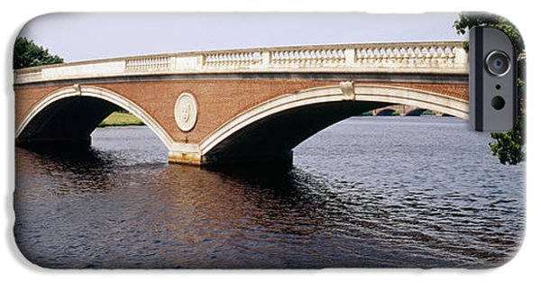 Charles River iPhone Cases - Arch Bridge Across A River, Anderson iPhone Case by Panoramic Images