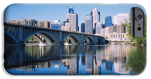 Minnesota iPhone Cases - Arch Bridge Across A River iPhone Case by Panoramic Images