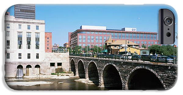 Connection iPhone Cases - Arch Bridge Across The Genesee River iPhone Case by Panoramic Images