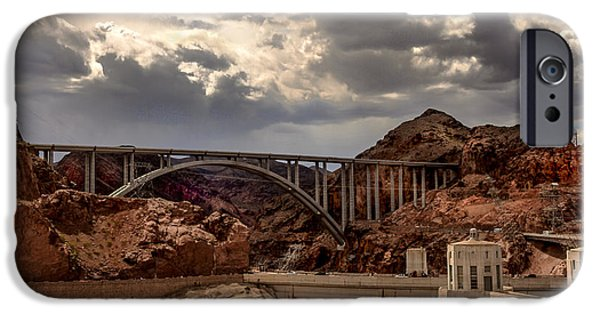 Haybale iPhone Cases - Arch Bridge and Hoover Dam iPhone Case by Robert Bales