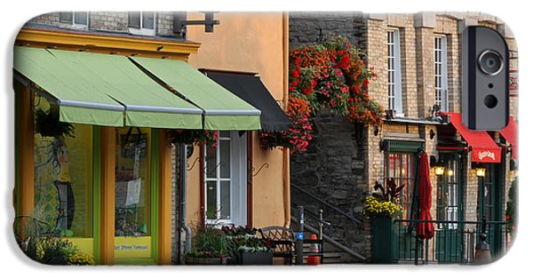 Arch Of Flowers In Old Quebec City iPhone Case by Juergen Roth
