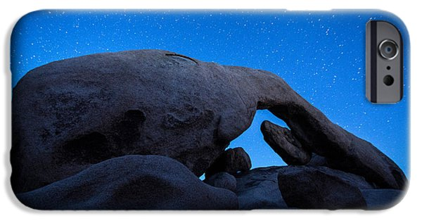 Tapestries Textiles iPhone Cases - Arch Rock Starry Night 2 iPhone Case by Stephen Stookey