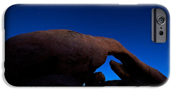 U2 iPhone Cases - Arch Rock Starry Night iPhone Case by Stephen Stookey