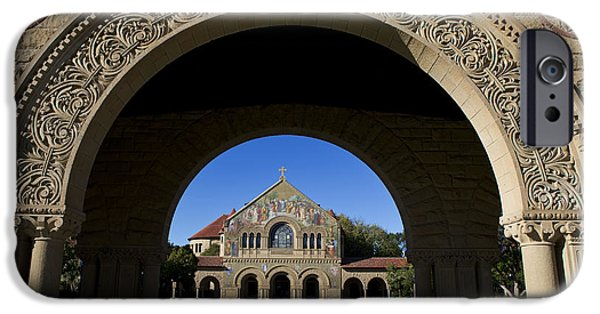 Jason O. Watson iPhone Cases - Arch to Memorial Church Stanford California iPhone Case by Jason O Watson