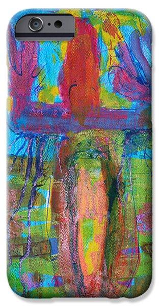 Botanic Illustration iPhone Cases - Archaic mythical iPhone Case by Magdalena Walulik