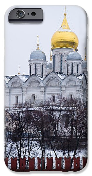 Archangel cathedral of Moscow Kremlin - Featured 3 iPhone Case by Alexander Senin