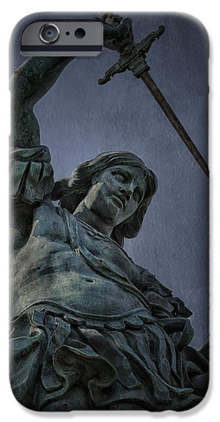 Bronze iPhone Cases - Archangel Michael iPhone Case by Erik Brede