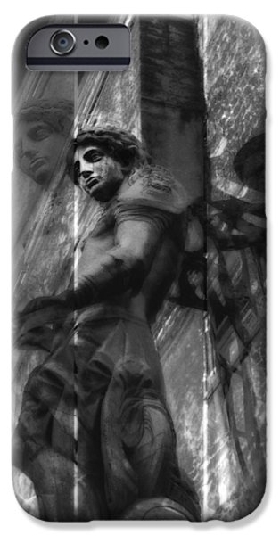 Michael Angelo iPhone Cases - Archangel Triptych I iPhone Case by Marianne Campolongo