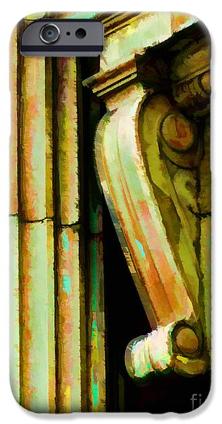 Corbal iPhone Cases - Archatectural Elements  Digital Paint iPhone Case by Debbie Portwood