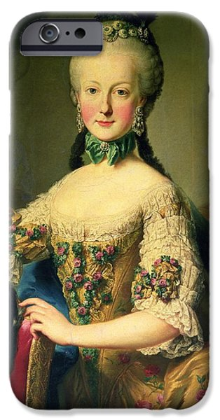 Choker iPhone Cases - Archduchess Maria Elisabeth Habsburg-lothringen 1743-1808, Sixth Child Of Empress Maria Theresa iPhone Case by Martin II Mytens or Meytens